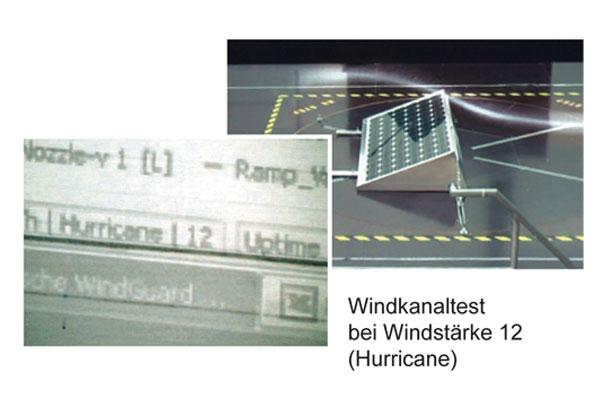Modulaufständerung im Windkanaltest: ALVA-System von Eulektra